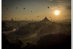 Balloon Sunrise in Myanmar