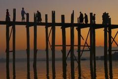 U Bein Bridge at Dawn