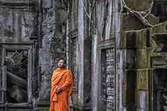 Contemplating Ruins at Angor Wat