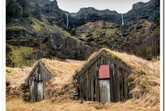 Old Sod Covered Barns Iceland