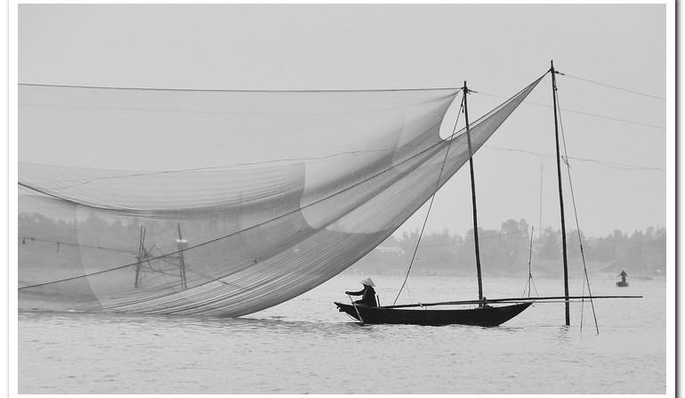 Net Fishing in Vietnam